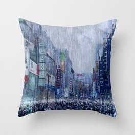 The Downpour Throw Pillow