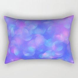 Turquoise Blue Bubbles Rectangular Pillow