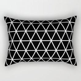 Triangle Black and White Pattern | Minimalism Rectangular Pillow