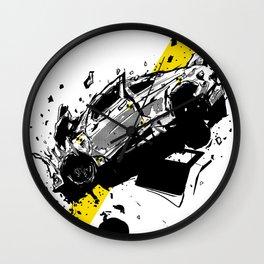 Frontal Impact Crash Test; Illustration; Art print; Wall Decor Wall Clock