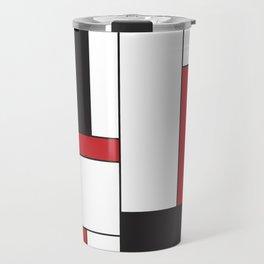 Geometric Abstract - Rectangulars Colored Travel Mug