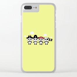 Panda Pirates Crew T-Shirt for all Ages Dt4v1 Clear iPhone Case
