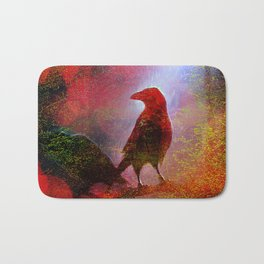 The clearing of king crow   ( collaboration with the talented artist Agostino Lo coco) Bath Mat