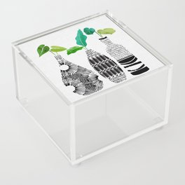 Black and White Tribal Vases Acrylic Box