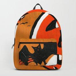 Vintage Jack o' Lantern and Bats Backpack