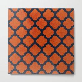 navy and orange clover Metal Print