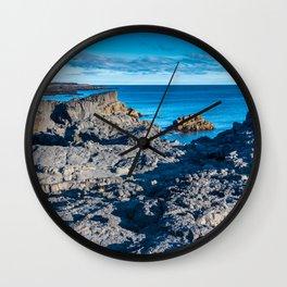 Rocky shores Wall Clock