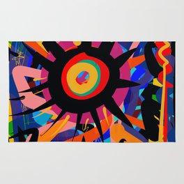 Black Sun is shining Abstract Art Street Graffiti Rug