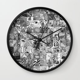 Doodling Together #5 Wall Clock