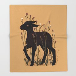 Black Lamb Throw Blanket