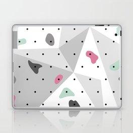 Abstract geometric climbing gym boulders pink mint Laptop & iPad Skin
