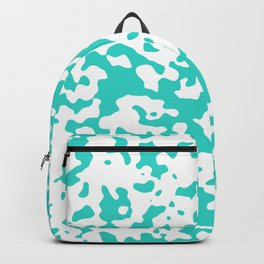 Spots - White and Turquoise Backpack