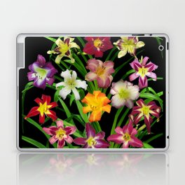 Display of daylilies II on blck Laptop & iPad Skin