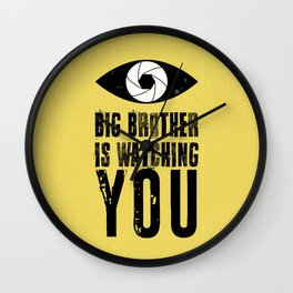 Big Brother is Watching YOU! Wall Clock