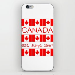 Canada Day Maple Leaf Pattern Canadian Flag iPhone Skin