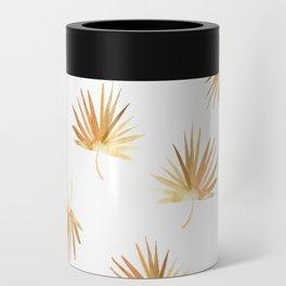 Golden Palm Leaf Can Cooler
