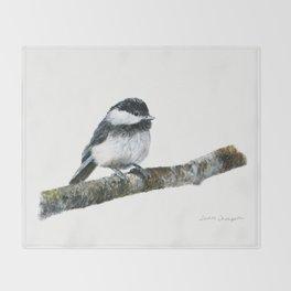 Black-capped Chickadee by Teresa Thompson Throw Blanket