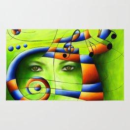Hispanissia - painted music Rug