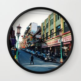 Streets of Chinatown Wall Clock