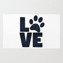Love Pets Paw Cat Dog Cute Rug