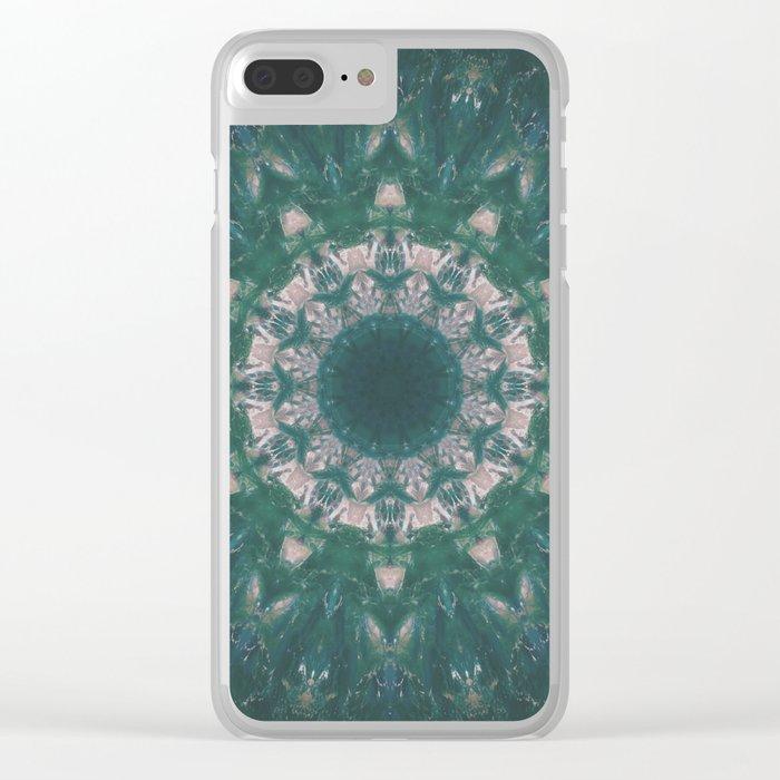 Amazon Emerald Gemstone Mandala No. 39 Clear iPhone Case