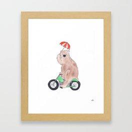 The Bear Rides Framed Art Print