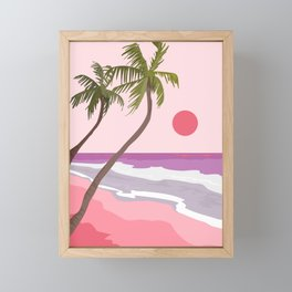 Tropical Landscape 01 Framed Mini Art Print