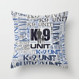 K-9 Unit  -Police Dog Unit Throw Pillow