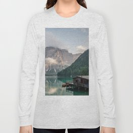 Mountain Lake Cabin Retreat Long Sleeve T-shirt