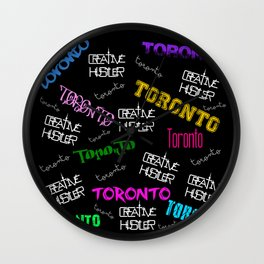 Creative Hustler Toronto Wall Clock