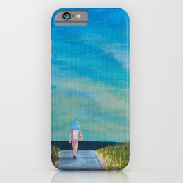 Walking to the Beach iPhone Case