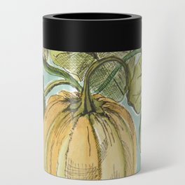 Antique Botanical Sketch Pumpkin Can Cooler