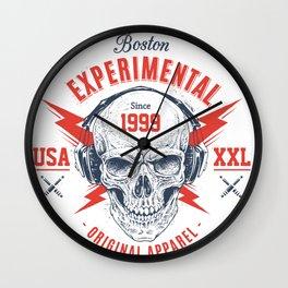 bad skull Wall Clock