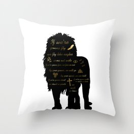 We Walk as Lions Throw Pillow