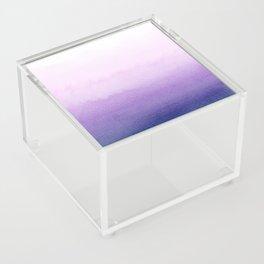 Purple Watercolor Design Acrylic Box