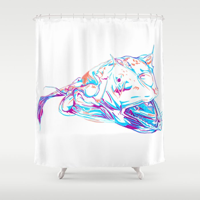 Deep Sea Monster Shower Curtain