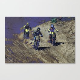 The Home Stretch - Motocross Racers Canvas Print
