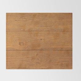 The Cabin Vintage Wood Grain Design Throw Blanket