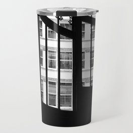 Windows in Infamous Rookery Building Chicago Illinois Black and White Photo Travel Mug