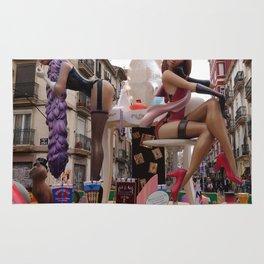 Fallas is an UNESCO world heritage Valencia, Spain Rug