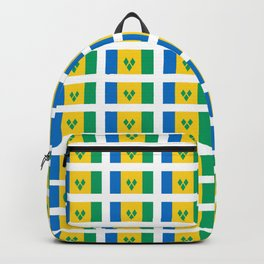 flag of Saint Vincent and the Grenadines-Saint Vincent,Grenadines,Vincentian, Vincy,Kingstown Backpack