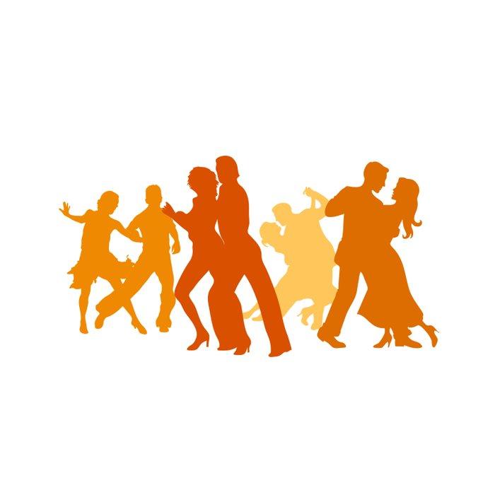 Tango Dancers Illustration  Duvet Cover