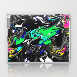 Glitch Swirly Marble Laptop & iPad Skin