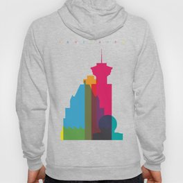 Shapes of Vancouver. Accurate to scale. Hoody