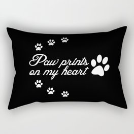 Paw Prints Animal Lover Rectangular Pillow