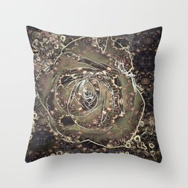 Antique Rose Pattern Throw Pillow