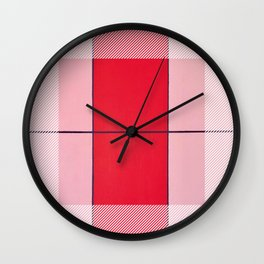 August - thin line graphic Wall Clock