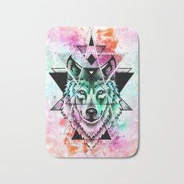 wolf mandala Bath Mat