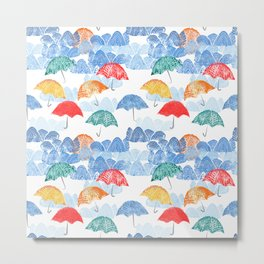 Umbrella Spring Metal Print