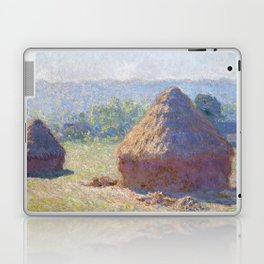 1891-Claude Monet-Haystacks, end of Summer-60 x 100 Laptop & iPad Skin